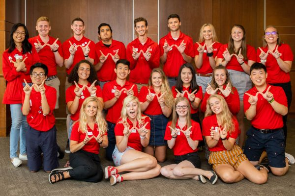 SOAR New Student Leader group photo
