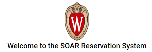 Screenshot of SOAR Reservation system home page