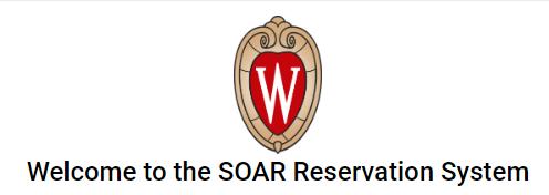 SOAR reservation system home screen